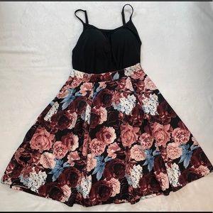 Rue21 high waist floral skater skirt knee length L